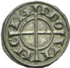 Photo numismatique  MONNAIES BARONNIALES Comté de PROVENCE ANONYMES (1177-1186 ) Denier royal.
