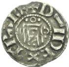 Photo numismatique  MONNAIES BARONNIALES Vicomté d'ORLEANS Au nom d'HUGUES (vers 1010-1025) Denier.