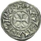 Photo numismatique  MONNAIES BARONNIALES Comté de POITIERS Immobilisation du type de Charles le Simple (vers 930-1100) Obole