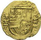 Photo numismatique  MONNAIES MONNAIES DU MONDE ESPAGNE PHILIPPE II (1556-1598) Deux escudos frappé à Séville en 1588.
