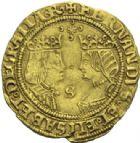 Photo numismatique  MONNAIES MONNAIES DU MONDE ESPAGNE FERDINAND et ISABELLE (1474-1504) Double excelente frappé à Séville.