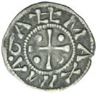 Photo numismatique  MONNAIES BARONNIALES Archevêché de VIENNE ANONYMES (vers 1150-1200) Denier.