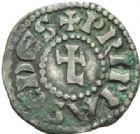Photo numismatique  MONNAIES BARONNIALES Archevêché de LYON ANONYMES (vers 1150-1200) Denier.