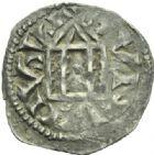 Photo numismatique  MONNAIES BARONNIALES Comté de LYON RODOLPHE III, roi de Bourgogne (993-1032) Denier.