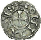 Photo numismatique  MONNAIES BARONNIALES Comté de LYON CONRAD, roi de Bourgogne (937-979) Denier.