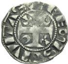 Photo numismatique  MONNAIES BARONNIALES Archevêché de REIMS GUILLAUME Ier (1176-1202) Denier.