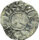 Photo numismatique  MONNAIES BARONNIALES Evêché de MEAUX GAUTIER Ier (1045-1082) Denier.