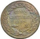 Photo numismatique  MONNAIES MONNAIES DU MONDE MONACO HONORE V (1819-1841) 5 centimes 1837.