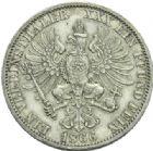 Photo numismatique  MONNAIES MONNAIES DU MONDE ALLEMAGNE PRUSSE, Guillaume 1er (1861-1888) Ein Vereinsthaler de 1866.