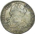Photo numismatique  MONNAIES MONNAIES DU MONDE MEXIQUE CHARLES III, roi d'Espagne (1760-1788) 8 reales, Mexico 1786.