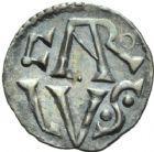 Photo numismatique  MONNAIES CAROLINGIENS CHARLEMAGNE, roi (768-800) empereur (800-814)  Denier frappé à Lyon à partir de 771.