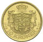 Photo numismatique  MONNAIES MONNAIES DU MONDE DANEMARK FRÉDÉRIC VIII (1906-1912) 10 Kroner or, 1908.