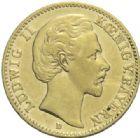 Photo numismatique  MONNAIES MONNAIES DU MONDE ALLEMAGNE BAVIERE, Louis II (1864-1886) 10 Mark or, Munich 1872.