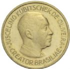 Photo numismatique  MEDAILLES MONNAIES DU MONDE BRESIL REPUBLIQUE (Depuis 1889) Médaille or, 21 avril 1960.