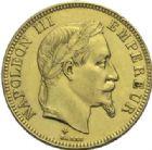 Photo numismatique  MONNAIES MODERNES FRANÇAISES NAPOLEON III, empereur (2 décembre 1852-1er septembre 1870)  100 francs or, Strasbourg 1867.