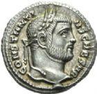 Photo numismatique  MONNAIES EMPIRE ROMAIN CONSTANCE CHLORE (César 293-305 - Auguste 305-306)  Argenteus frappé à Siscia en 294/295.