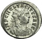 Photo numismatique  MONNAIES EMPIRE ROMAIN TACITE (275-276)  Aurelianus.