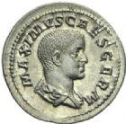 Photo numismatique  MONNAIES EMPIRE ROMAIN MAXIME (César 235-238)  Denier frappé en 236/238.