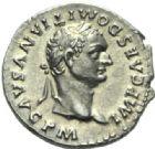 Photo numismatique  MONNAIES EMPIRE ROMAIN DOMITIEN César (69-81) Auguste (81-96)  Denier frappé en 81.