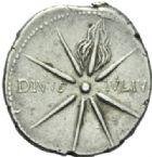 Photo numismatique  MONNAIES EMPIRE ROMAIN OCTAVE-AUGUSTE. (Empereur en 29 - Auguste 27 av.-14 ap. JC)  Denier frappé vers 19/18 à Caesaraugusta.