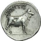 Photo numismatique  MONNAIES EMPIRE ROMAIN OCTAVE-AUGUSTE. (Empereur en 29 - Auguste 27 av.-14 ap. JC)  Denier frappé à Samos en 27 avant JC.