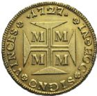 Photo numismatique  MONNAIES MONNAIES DU MONDE BRÈSIL JEAN V (1706-1750) 20 000 reis or, Minas Gerais 1727.