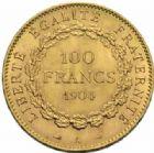Photo numismatique  MONNAIES MODERNES FRANÇAISES 3ème REPUBLIQUE (4 septembre 1870-10 juillet 1940)  100 francs or, Paris 1904.