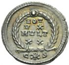 Photo numismatique  MONNAIES EMPIRE ROMAIN VALENS (Auguste 364-378)  Silique frappée à Constantinople en 367/375.