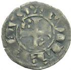 Photo numismatique  MONNAIES BARONNIALES Seigneurie d'ISSOUDUN GUILLAUME de CHAUVIGNY (1212-1234) Denier.