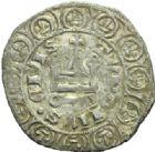 Photo numismatique  MONNAIES ROYALES FRANCAISES JEAN II LE BON (22 août 1350-18 avril 1364)  Blanc au châtel de la 1ère émission.