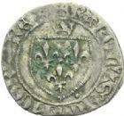 Photo numismatique  MONNAIES ROYALES FRANCAISES CHARLES VII (30 octobre 1422-22 juillet 1461)  Blanc à la couronne, Poitiers.