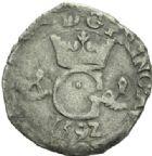 Photo numismatique  MONNAIES BARONNIALES Principauté d'ORANGE PHILIPPE GUILLAUME (1584-1618) Pinatelle, 1592.