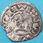 Photo numismatique  MONNAIES BARONNIALES Seigneurie de SAINT-AIGNAN ANONYMES (Xie siècle) Denier de petit module
