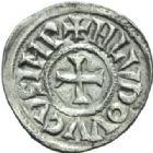 Photo numismatique  MONNAIES CAROLINGIENS LOUIS LE PIEUX, empereur (janvier 814-20 juin 840)  Denier de Toulouse.