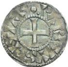 Photo numismatique  MONNAIES ROYALES FRANCAISES ROBERT II le Pieux (996-1031)  Denier de Paris.