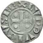 Photo numismatique  MONNAIES ROYALES FRANCAISES LOUIS VI (29 juillet 1108-1er août 1137)  Denier de Sens.