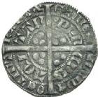Photo numismatique  MONNAIES BARONNIALES Duché d'AQUITAINE EDOUARD, prince noir (1352-1372) Demi gros, 2e émission.