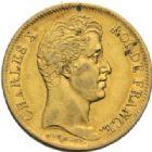 Photo numismatique  MONNAIES MODERNES FRANÇAISES CHARLES X (16 septembre 1824-2 août 1830)  40 francs or, Paris 1830.