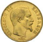 Photo numismatique  MONNAIES MODERNES FRANÇAISES NAPOLEON III, empereur (2 décembre 1852-1er septembre 1870)  50 francs or, Paris 1856.