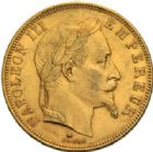 Photo numismatique  MONNAIES MODERNES FRANÇAISES NAPOLEON III, empereur (2 décembre 1852-1er septembre 1870)  50 francs or, Paris 1865.