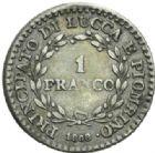 Photo numismatique  MONNAIES MONNAIES DU MONDE ITALIE LUCQUES ET PIOMBINO, Felice et Elisa Bonaparte (1805-1814) 1 Franco, Florence 1808.