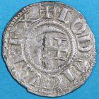 Photo numismatique  MONNAIES BARONNIALES Seigneurie de BOURBON ANONYMES (vers 1160-1205) Denier.