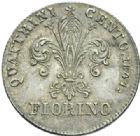 Photo numismatique  MONNAIES MONNAIES DU MONDE ITALIE TOSCANE, Léopold II de Lorraine (1824-1859) Florin d'argent, 1847.