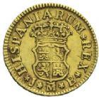 Photo numismatique  MONNAIES MONNAIES DU MONDE ESPAGNE FERDINAND VI (1746-1759) Demi-escudo, Madrid 1750.