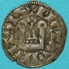 Photo numismatique  MONNAIES BARONNIALES Comté de POITIERS ALPHONSE de France (1241-1271) Denier.
