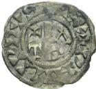 Photo numismatique  MONNAIES ROYALES FRANCAISES PHILIPPE Ier (4 août 1060-29 juillet 1108)  Obole du 3ème type, frappée à Château-Landon.