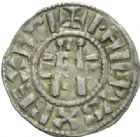 Photo numismatique  MONNAIES ROYALES FRANCAISES PHILIPPE Ier (4 ao�t 1060-29 juillet 1108)  Denier du 1er type, frapp� � Orl�ans.