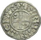 Photo numismatique  MONNAIES ROYALES FRANCAISES PHILIPPE Ier (4 août 1060-29 juillet 1108)  Denier du 1er type, frappé à Orléans.