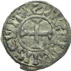 Photo numismatique  MONNAIES ROYALES FRANCAISES PHILIPPE Ier (4 août 1060-29 juillet 1108)  Denier du 2ème type, frappé à Orléans.