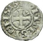 Photo numismatique  MONNAIES ROYALES FRANCAISES LOUIS VI (29 juillet 1108-1er août 1137)  Denier du 2ème type, frappé à Pontoise.